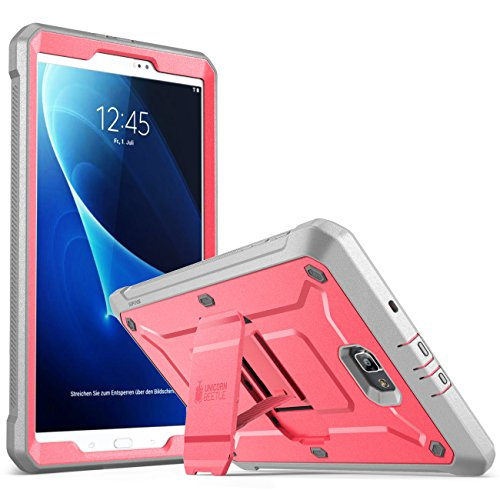 SUPCASE Galaxy Tab A 10.1 Case, [Heavy Duty] [Unicorn Beetle Pro Series] Full-Body Rugged Protective Case with Built-In Screen Protector for Samsung Galaxy Tab A 10.1 Inch 2016(No Pen Version)(PK/GY)