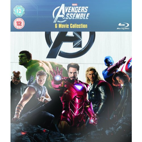 Marvel Avengers Assemble 6 Movie Collection: Iron Man 1 2, Incredible Hulk, Thor, Captain America, and Avengers Assemble [Blu-Ray] NEW