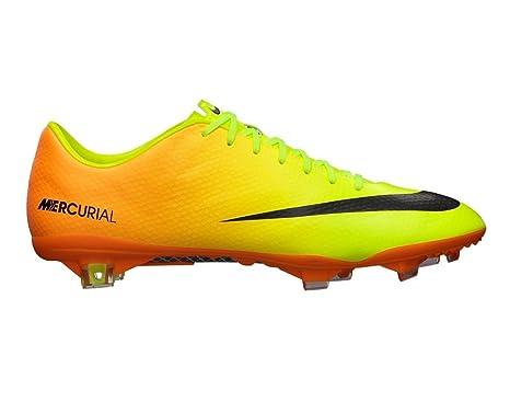 newest 92124 6b0a5 ... Nike Mercurial Vapor Ix Fg Mens Football Soccer Boots Cleats Volt Black  Bright Citrus Firm Ground ...