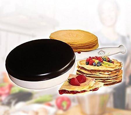 Sartén para crepes DCG pancake eléctrica antiadherente 900 watt ...