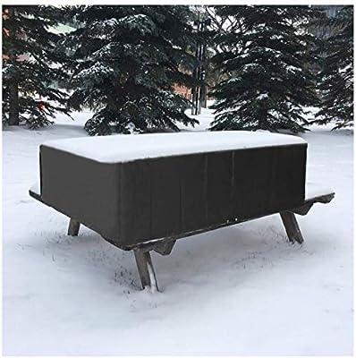 Cubierta para Muebles de Jardín Impermeable, Rectangular Protector a Prueba de Viento 210d Oxford para Patio Mesa Y Sillas de Exterior Cubierta de Juego de Muebles De Jardín - Negro: Amazon.es: Hogar