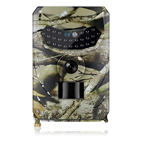 Kariwell Wearable Camera Hunting Camera 12MP Photo Trap Night Vision Trail Camera 1080P Scout Wild Hunter with Gravity Sensor, WDR 110 Degrees