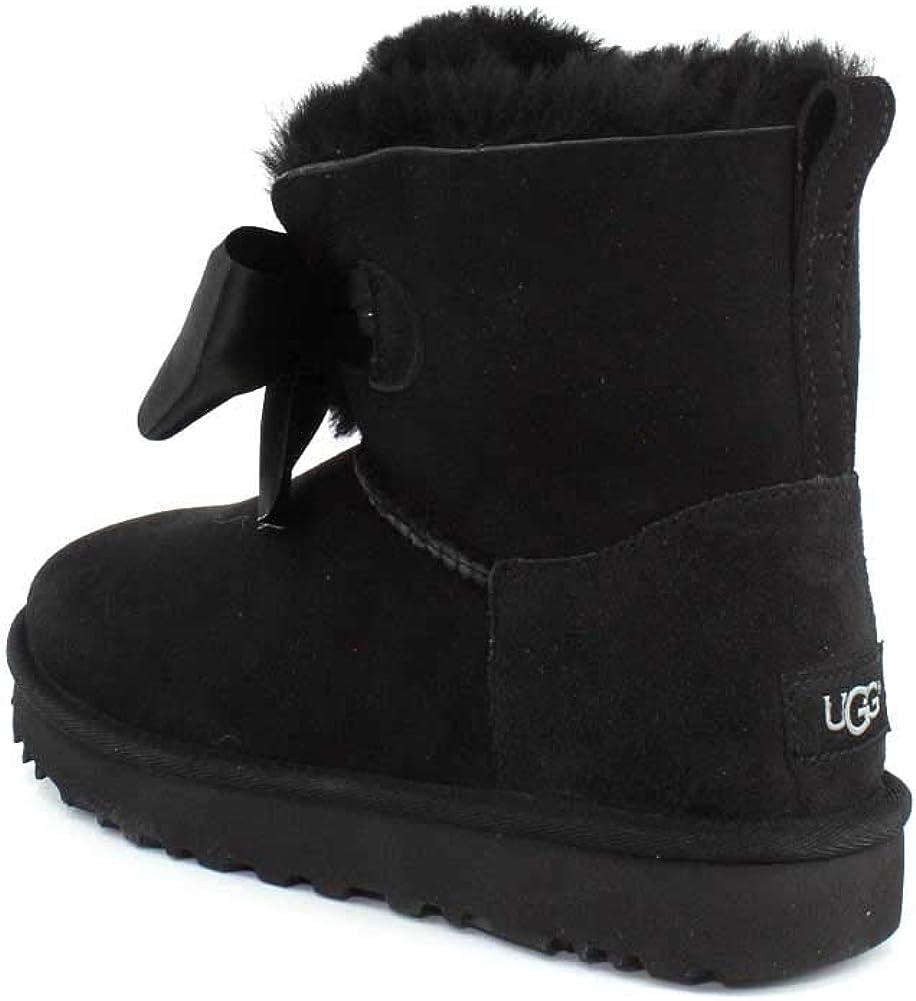 UGG Australia Donna Gita Bow Mini Suede Stivali Nero