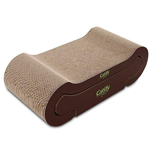 - Best Pet Supplies, Inc. Catify Lounger Cardboard Cat Scratcher I with Catnip