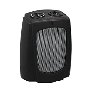 Duraflame COOL TOUCH Desktop Ceramic Heater, with 2 Heat Settings & Fan Only Mode, Adjustable Thermostat, with Built-In Tip Over Safety Switch and Overheat Protection & Cool Touch Housing