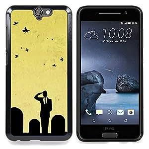 "Qstar Arte & diseño plástico duro Fundas Cover Cubre Hard Case Cover para HTC One A9 (Minimalista Cementerio Salute"")"