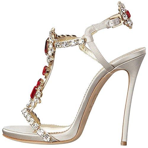 Open Rhinestone satin Stilettos Nancy Crystal Dress NJPU Toe Sandals Women Heel Pumps White Jayjii Straps High T 8gxv8qnw