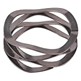 """Multiwave Washers, Compression Wave Spring,Stainless_Steel_17-7_PH, Polished,inch, 0.73"""" ID, 1"""" OD, 0.015"""" Thick, 157lbs/in Spring Rate, 25lbs Load Capacity@Spring height0.17, (Pack of 5)"""