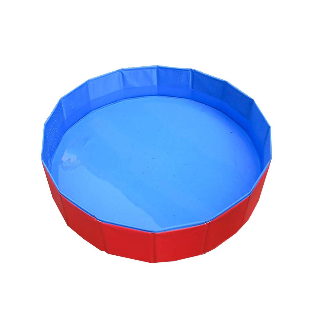 12030cm JZMAI Bathtub PVC Pet Pool Foldable Dog Cat Bathtub Suitable For Medium And Large Pets Indoor And Outdoor Use Red 120 80CM (Size   120  30cm)