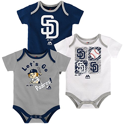 San Diego Padres Baby / Infant Go Team 3 Piece Creeper Set 6-9 (San Diego Padres 3 Piece)