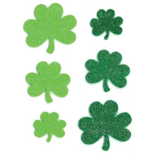 [Glitter Stickers - St. Patrick's Day Shamrocks - 44 pieces] (St Patricks Day Shamrocks)