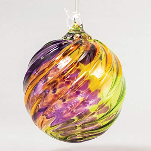 Glass Eye Studio Classic Ball Ornament Purple Haze Twist