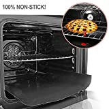 Non Stick Oven Liners Heavy Duty Teflon Cooker Liner/Grill Liner/Oven Mat for Gas, Fan, Electric, Microwave and Toaster Ovens, 40cm x 50cm - 2 Pack