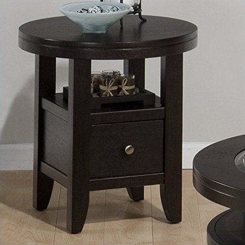 Ash Round End Table - 8
