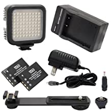 Zoom Q8 Handy Video Recorder Camcorder Lighting 5600K Color Temperature, 72 LED Array Lamp - Digital Photo & Video LED Light Kit