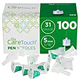 Care Touch Insulin Pen Needles 31 Gauge, 3/16 Inches, 5mm - 100 Pen Needles