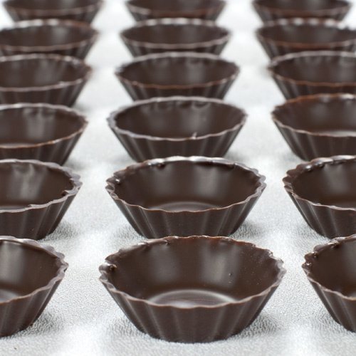 Dark Chocolate Mini Cup, Fluted - 1.8 Inches - 1 box - 175 count