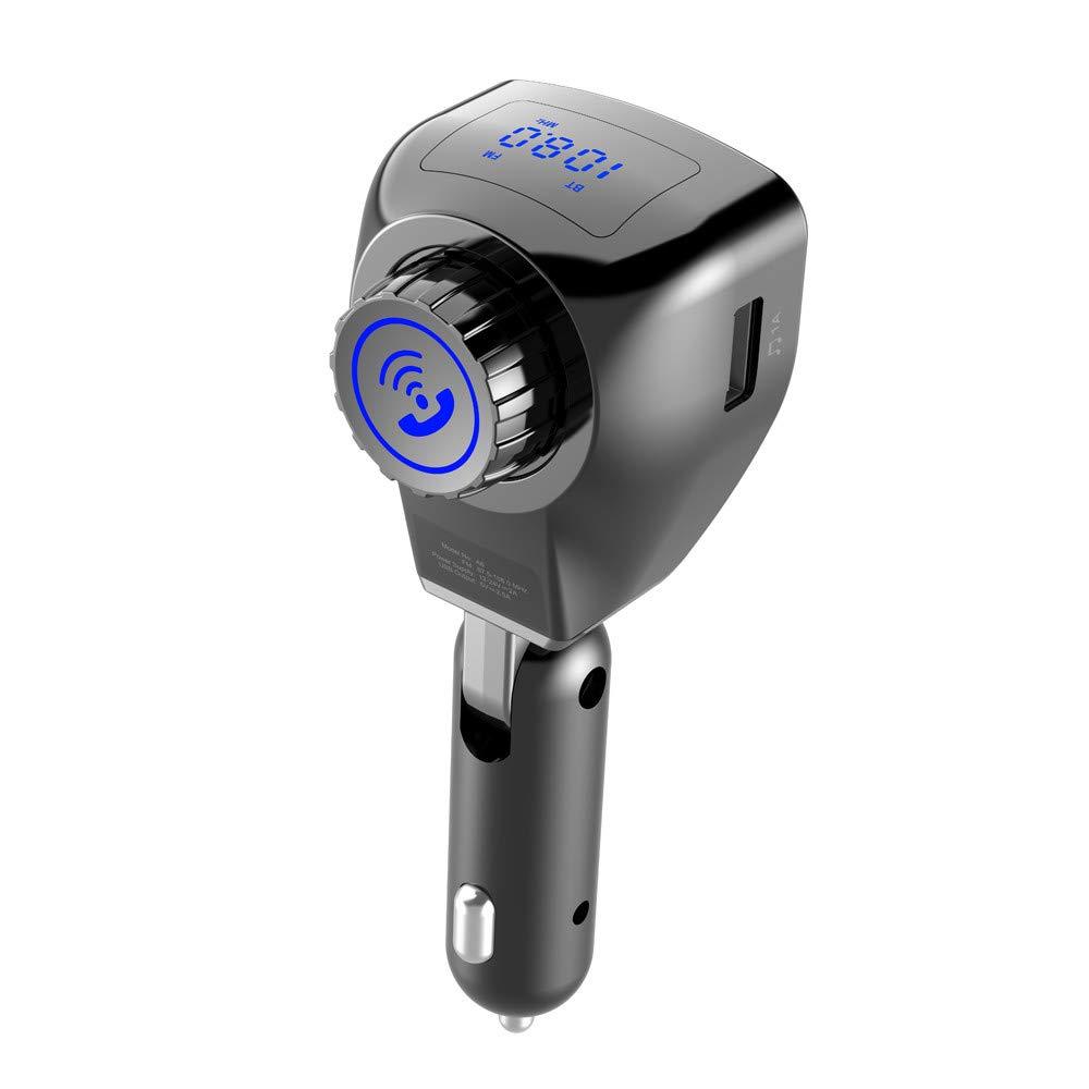 即納!最大半額! Lyperkin Bluetooth FMトランスミッターカーチャージャー ワイヤレスラジオ送信機アダプター デュアルUSBポート Lyperkin Bluetooth/USBディスク付き ハンズフリー通話カーキット スマートフォン対応 B07H3X9J68, 幸福の石:06f09bfd --- nicolasalvioli.com