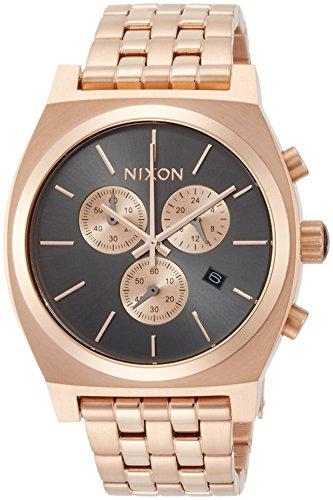 [ニクソン]NIXON TIME TELLER CHRONO: ALL ROSE GOLD/GUNMETAL NA9722046-00