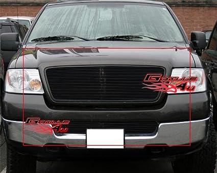 05 F150 Bumper >> Aps Fits 2004 2005 Ford F 150 Black Billet Grille Combo F87997h