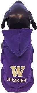 product image for NCAA Washington Huskies Cotton Lycra Hooded Dog Shirt