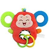 F_Gotal Toys for Boys Girls Clearace - Baby Kids Toddler Educational Toys Animal Soft Rattles Teether Hanging Bell Learning Toys for Kids Child Adults Gifts