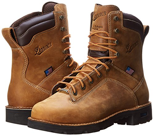 Danner Mens Quarry USA 8-Inch BR Work Boot Quarry USA 8 Brown-M