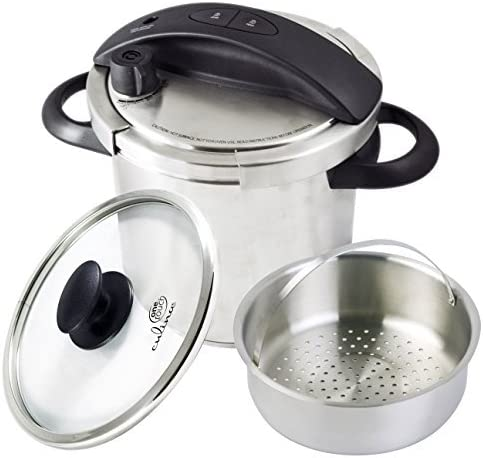 Culina One-Touch Pressure Cooker. Stovetop, 6 Qt. Stainless Steel