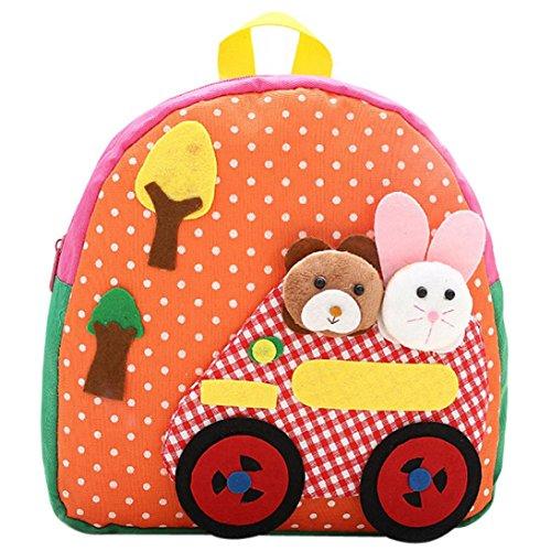 Vibola Child Backpack Toddler Kid School Bags Kindergaten Cartoon Shoulder Bookbags (Orange)