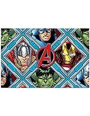 Procos 10115574 87968 - Party tafelkleed Mighty Avengers, afmeting 120 x 180 cm, afwasbaar, herbruikbaar, tafelkleed, decoratie, verjaardag, themafeest, Meerkleurig