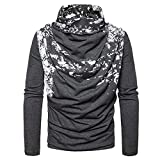 European Size Fashion Spray Painting Heap Collar Long Sleeve Knitting Sweater (Dark Grey, S)