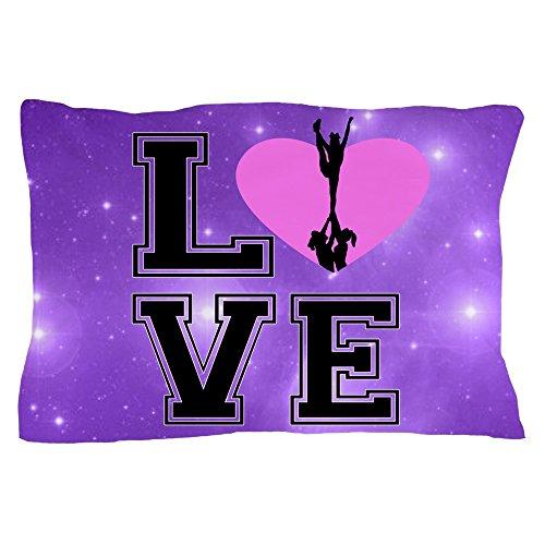 CafePress Love Cheerleading Purple Pillow Case Standard Size Pillow Case, 20