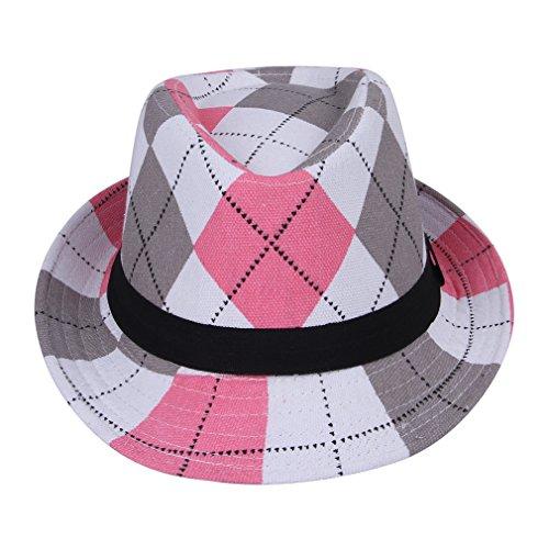 Los-Eva Unisex-baby Checked Plaid Panama Caps Color#2