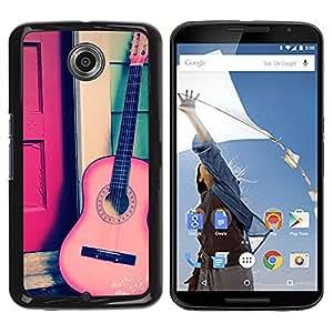 Be Good Phone Accessory // Dura Cáscara cubierta Protectora Caso Carcasa Funda de Protección para Motorola NEXUS 6 / X / Moto X Pro // Play Classical Travel Free Music Instrument