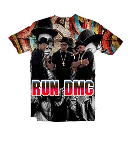 Snlydtan Summer Polyester Hip Hop Run DMC Tee Shirts XXL ()