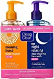 CLEAN & CLEAR Morning Burst/Night Relaxing Cleansing Face Wash Pack 1 ea (Pack of 8)