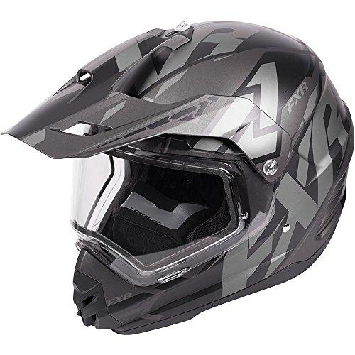 Black Snowmobiles (FXR Torque X Core Black Ops Helmet with Electric Shield - Medium)