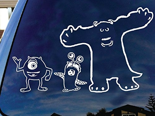 LA DECAL Monsters Inc Sully Mike and Boo Cartoon Characters Scary Halloween Decor Car 10
