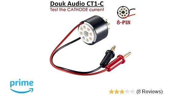 Nobsound Vacuum Tube Amp Amplifier Plate Bias Current Probe Tester 8 Pin  Socket for EL34, KT88, 6L6, 6V6, 5881, 6550, KT66, KT100, KT120, 7027  (CT1-C,