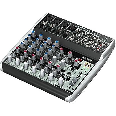 Behringer Q1202USB 120 V, Consola de mixage, 120 V, 12 entrantes con interfaz de audio USB