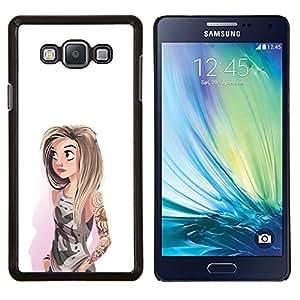 Dragon Case - FOR Samsung Galaxy A7 - girl watercolor hipster white fashion - Caja protectora de pl??stico duro de la cubierta Dise?¡Ào Slim Fit