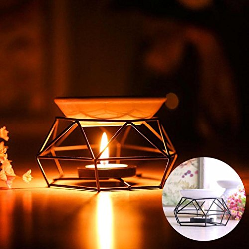 Stainless Steel Aromatherapy Burner - Aroma Furnace Home Decorations, Rumas Stainless Steel Oil Burner Candle Aromatherapy Oil Lamp