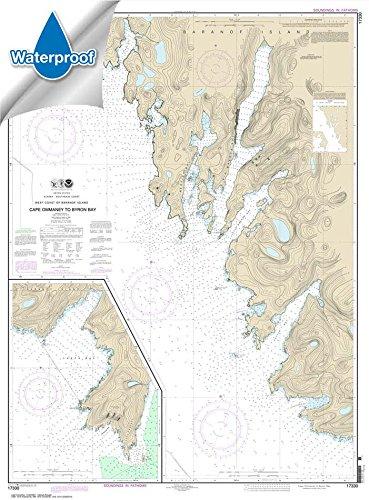 (Paradise Cay Publications NOAA Chart 17330: West Coast of Baranof Island Cape Ommaney to Byron Bay 34.7 x 47 (WATERPROOF))