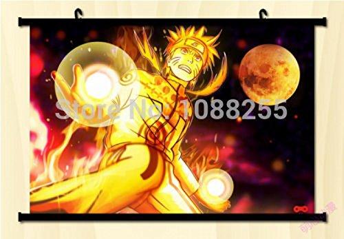 BestWeeks Naruto Shippuden: Naruto Uzumaki Home Decor Anime Japanese Poster Wall Scroll