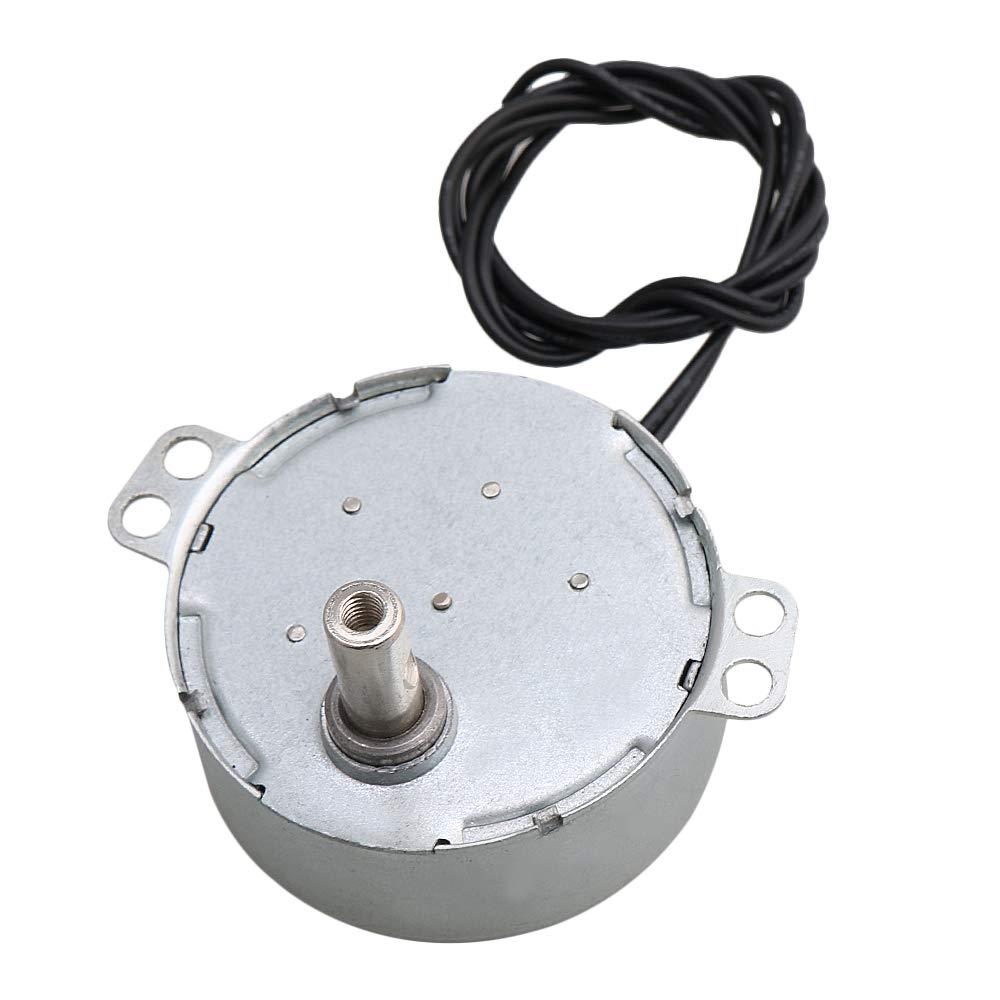 CNBTR Silver Metal Shaft Length 15.5mm AC 220V 0.9-1rpm Turnable Flat Shaft Synchronous Motor Fan Heater DIY Accessory yqltd