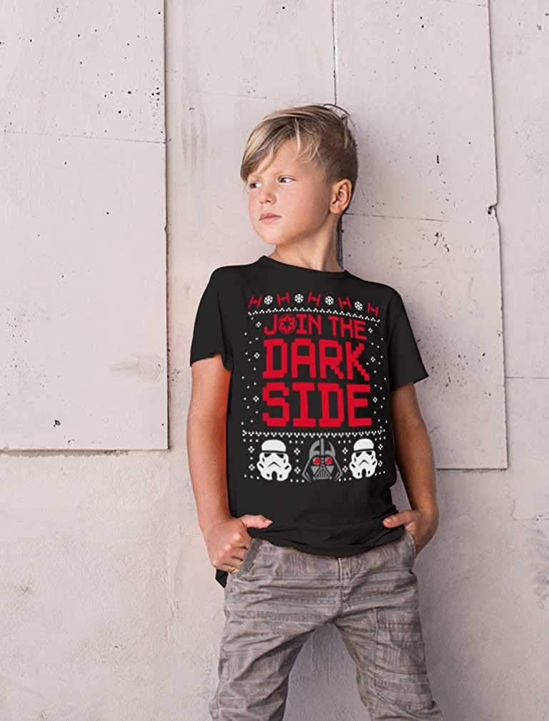 Musterbrand Star Wars Darth Vader Stormtrooper Ugly Christmas Youth Kids T-Shirt