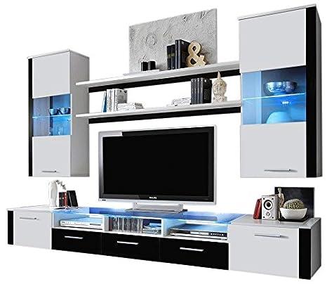 Ferio - Mueble de Pared para salón, diseño Moderno, con ...