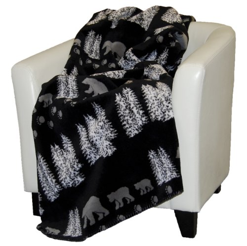Denali Home Collection by Mont Double-Sided Reversible Throw, 60 by 70-Inch, Black Denali (Denali Throw Blankets)