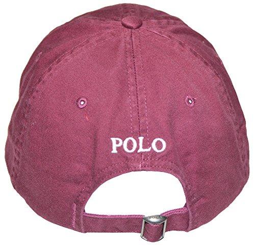 Polo-Ralph-Lauren-Sports-Pony-Logo-Hat-Cap-One-size-Classic-Wine