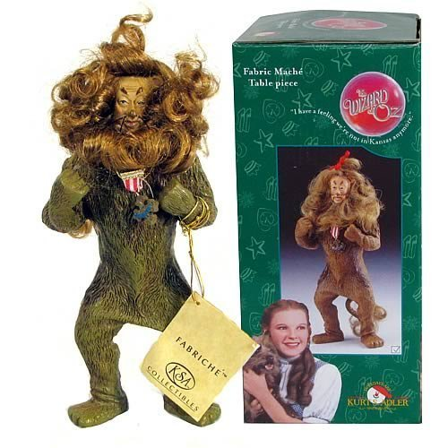 Wizard of Oz Fabric Mache Statue - Cowardly Lion]()